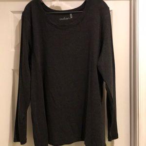 Caslon Long Sleeve Gray Shirt Size 3X